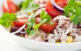 Salade de riz au fromage de brebis Etorki