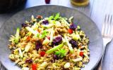 Salade énergie aux céréales de campagne et fruits