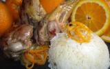 Manchons de canard à l'orange