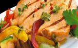 Rôti de porc à la plancha et légumes du soleil