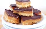 Millionnaire's shortbread sablés au caramel et chocolat