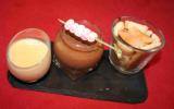 Trilogie chocolatée en verrine