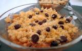 Crumble aux fruits et au chocolat maison