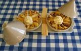 Tajine de pommes avec glace à la vanille rapide
