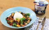 Salade de légumes du soleil grillés à la burrata