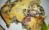 Gratin de blettes et aux 2 jambons et son fromage raclette