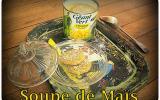 Soupe de maïs et croquette de foie gras
