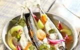 Maquereaux marinés au vin blanc et aux aromates