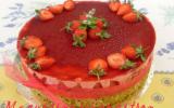 Bavarois fraises pistache