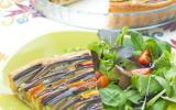 Tarte-spirale provençale aux légumes d'été