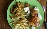 Cuisses de poulet mielées au chèvre