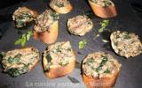 Tapas de sardines et épinard