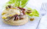 Crumpets façon tartiflette à ma façon, reblochon et lait végétal, recette de Laurence Salomon