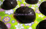 œufs en chocolat fourrés à la ganache au gianduja