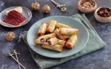 Bouchées de pâte filo au foie gras et Magret fumé