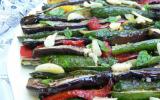 Légumes grillés, basilic et menthe