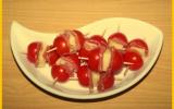 Brochettes de tomates, jambon cru et Etorki