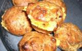 Muffins au jambon, fromage et basilic