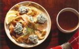 Lanières de crêpe et de saumon fumé au Cottage Cheese