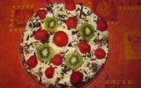 Gâteaux d'anniversaire aux fraises