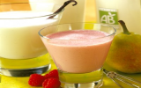 Le milk-shake aux poires ou fruits rouges