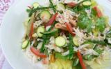 Pasta salade, tourteau,  salicornes et pourpier