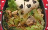 Bok choi sauté aux champignons et gingembre