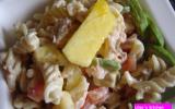 Salade de pâtes-avocats-crevettes
