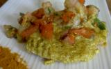 Filets de saumon à l'indienne