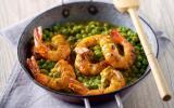 Curry aux petits pois et aux crevettes