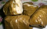 Dolmas ou feuilles de vigne farçies au riz