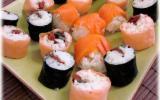 Sushis au saumon fumé