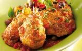 Fricassé de poulet aux olives et basilic