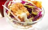 Salade croquante d'automne aux pétales panés de Saint Albray