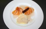 Foie gras mi cuit, poires aux épices