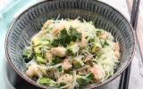 Salade de vermicelles de riz, crevettes et avocat