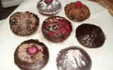 Cupcakes forts en chocolat et fruits rouges