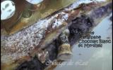 Galette des rois chocolat blanc, myrtilles et frangipane