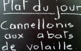 Cannellonis farcis aux abats de volaille et à la sauce béchamel