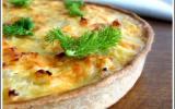 Quiche au saumon et fenouil - Pâte à tarte légère au yaourt et à l'huile d'olive
