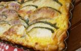 Tarte aux courgettes basilic chèvre et parmesan