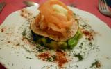 Rose de saumon fumé au cœur de sorbet de citron vert