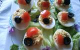 Oeufs mimosa, crème au thon