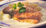 Filets de dorade aux épices douces et écrasée de pommes de terre