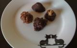 Chocolats aux amandes caramélisées maison et au piment d'espelette