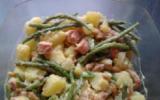 Salalde de pomme de terre, haricots verts, cacahuètes