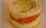 Lasagnes au fromage et saumon fumé à servir froides