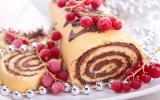 Bûche de Noël poire-chocolat