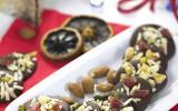 Mendiants chocolat noir, amandes et fruits confits