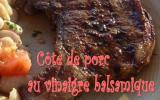 Côte de porc au vinaigre balsamique et aux épices